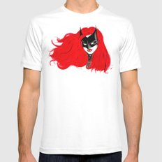 The Batwoman White Mens Fitted Tee MEDIUM