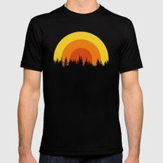 summer mountain Mens Fitted Tee MEDIUM Black