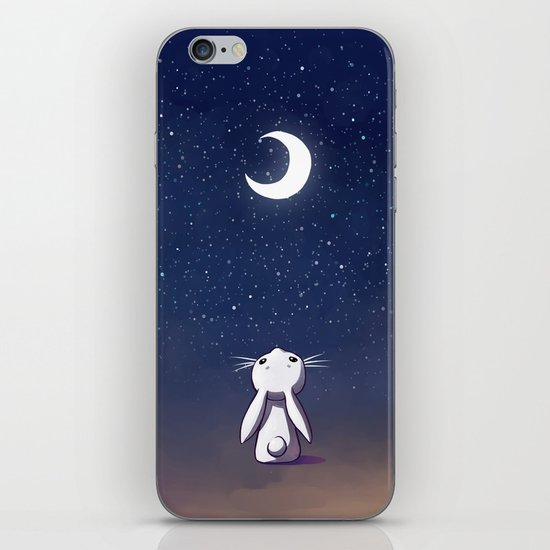 Moon Bunny iPhone & iPod Skin