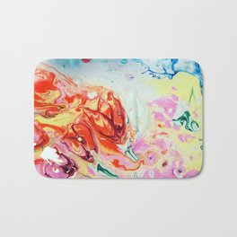 Abstract Flowers blasted with water Bath Mat