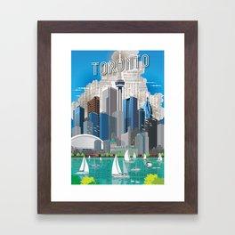 Toronto Skyline wide Framed Art Print