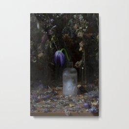 frozen tulip Metal Print