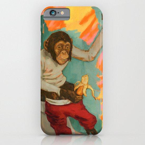 """Primitive Neurological Circuitry (Chimp on Toilet)"" iPhone & iPod Case"