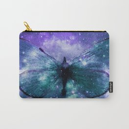 Celestial Butterfly Violet Turquoise Teal Carry-All Pouch