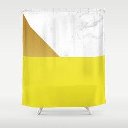 yellow marmor Shower Curtain