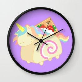 Unicorn - Swiss Roll Cake Wall Clock