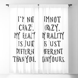 I'm not crazy - Alice in Wonderland Blackout Curtain