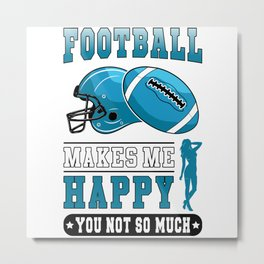 American Football Game Team USA Sports Funny Gift Metal Print