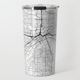 St Paul Map White Travel Mug