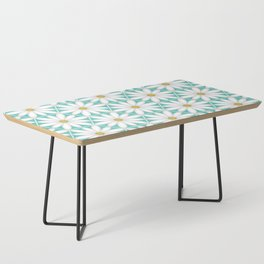 Daisy Hex - Turquoise Coffee Table
