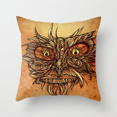 Face Flow Color Throw Pillow