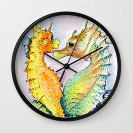 Seahorse Love Wall Clock