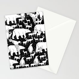 Polar gathering Stationery Cards