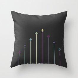 Retro Airplanes 08 Throw Pillow