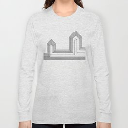 Line Houses Long Sleeve T-shirt