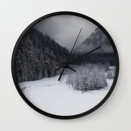 Snowy Morning Wall Clock