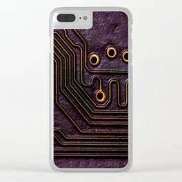 Robot Parts Clear iPhone Case