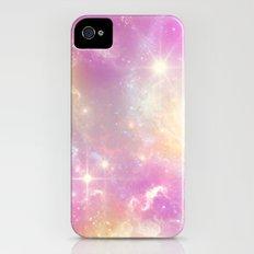 Pink Galaxy iPhone (4, 4s) Slim Case