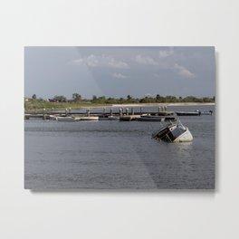 Sunken Ship, Davis Islands, Tampa, FL Metal Print