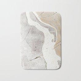 Feels: a neutral, textured, abstract piece in whites by Alyssa Hamilton Art Bath Mat