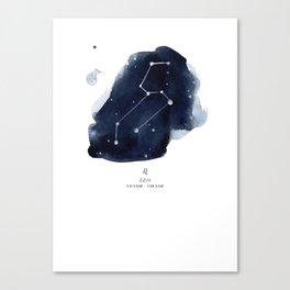 Zodiac Star Constellation - Leo Canvas Print