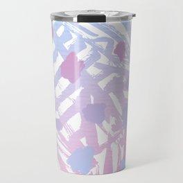 Abstract Paint Pattern Purple Travel Mug
