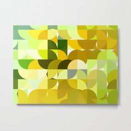 Pale Yellow Poinsettia 1 Abstract Circles 1 Metal Print