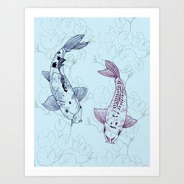 Koi carps Art Print