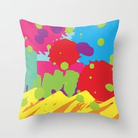 graffiti Throw Pillows featuring Graffiti by Life.png
