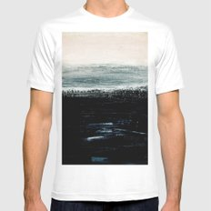 abstract minimalist landscape 3 White Mens Fitted Tee MEDIUM