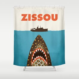 Zissou The Life Aquatic Shower Curtain
