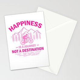 Happiness Is A Journey Not A Destination mag Stationery Cards