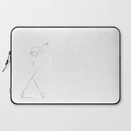 'Reminisce', Dancer Line Drawing Laptop Sleeve