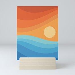Colorful аbstract landscape Mini Art Print