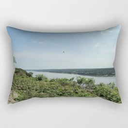 Bird soaring over the Palisades and Hudson from the New York Side Rectangular Pillow