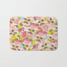Abundance Of Pink Pansies Bath Mat
