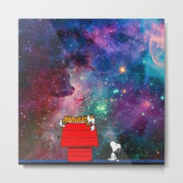 hobbes and snoopy nebula Metal Print