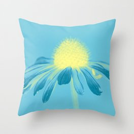 Echinacea in pastel shade Throw Pillow