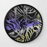 safari Wall Clocks featuring Safari by Vikki Salmela