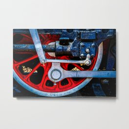 Old Steam Train Wheel Fittings And Valves. Railway Art. Metal Print