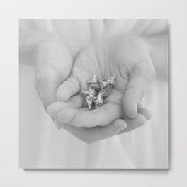 stars in her hands Metal Print