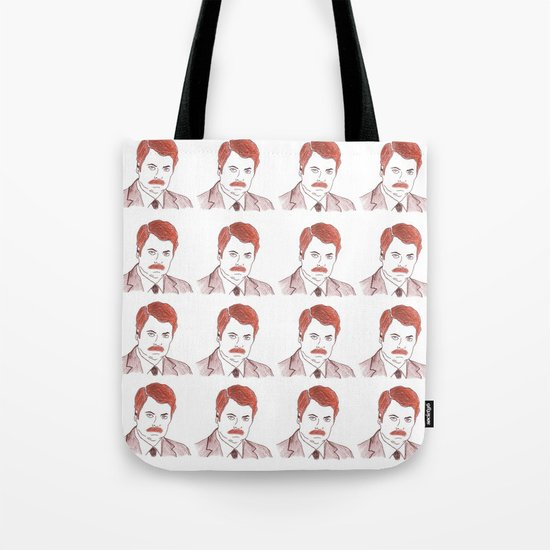 """Ron Swanson """"Diptych"""" Tote Bag"""