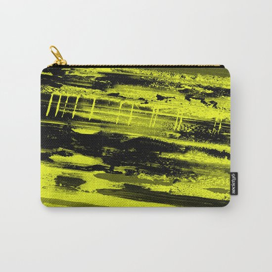 Study In Yellow - Abstract, yellow painting Carry-All Pouch