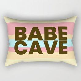 Babe Cave Creamy Spring Rectangular Pillow