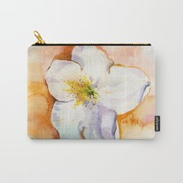 Rhododendron flower on a table. Watercolor.  Carry-All Pouch