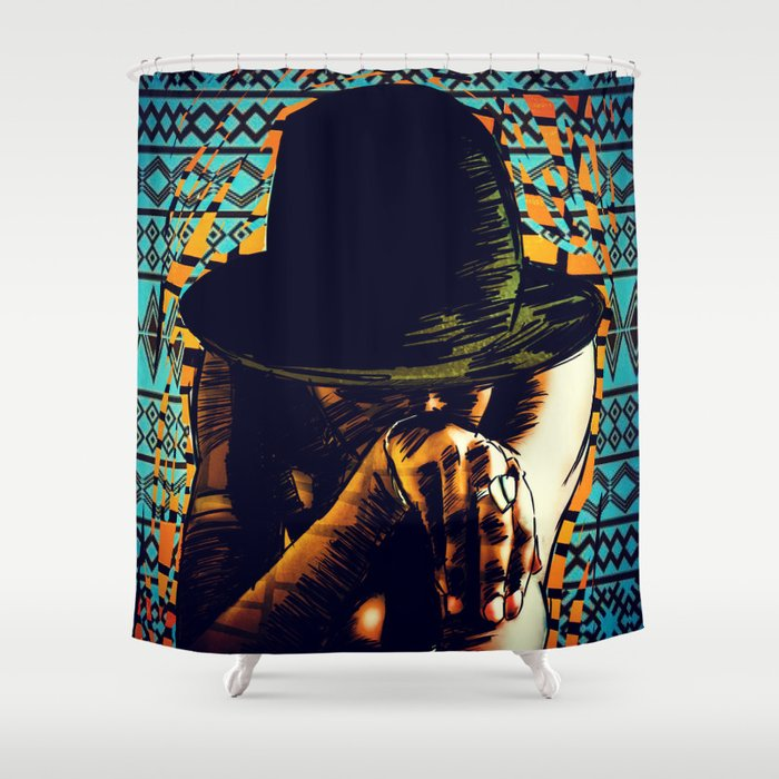 Cool hat Shower Curtain
