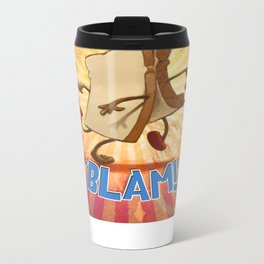 "Slice of Bread goes to the Beach ""BLAM"" Metal Travel Mug"