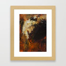the heart that without coffee just won't go Framed Art Print