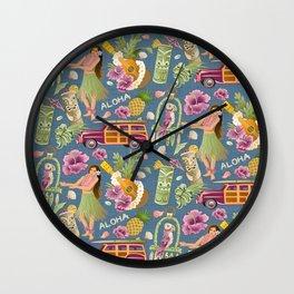Hula Half Drop Wall Clock