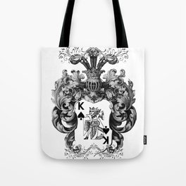 Poker King Spades black and white Tote Bag
